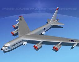 3D Boeing B-52D Stratofortress V01