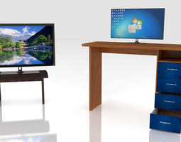 Furniture and Electronics Collection 3D Model