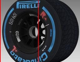 enkei wet rear tyre 3D Model