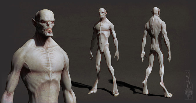 bat character 3d model ztl 1