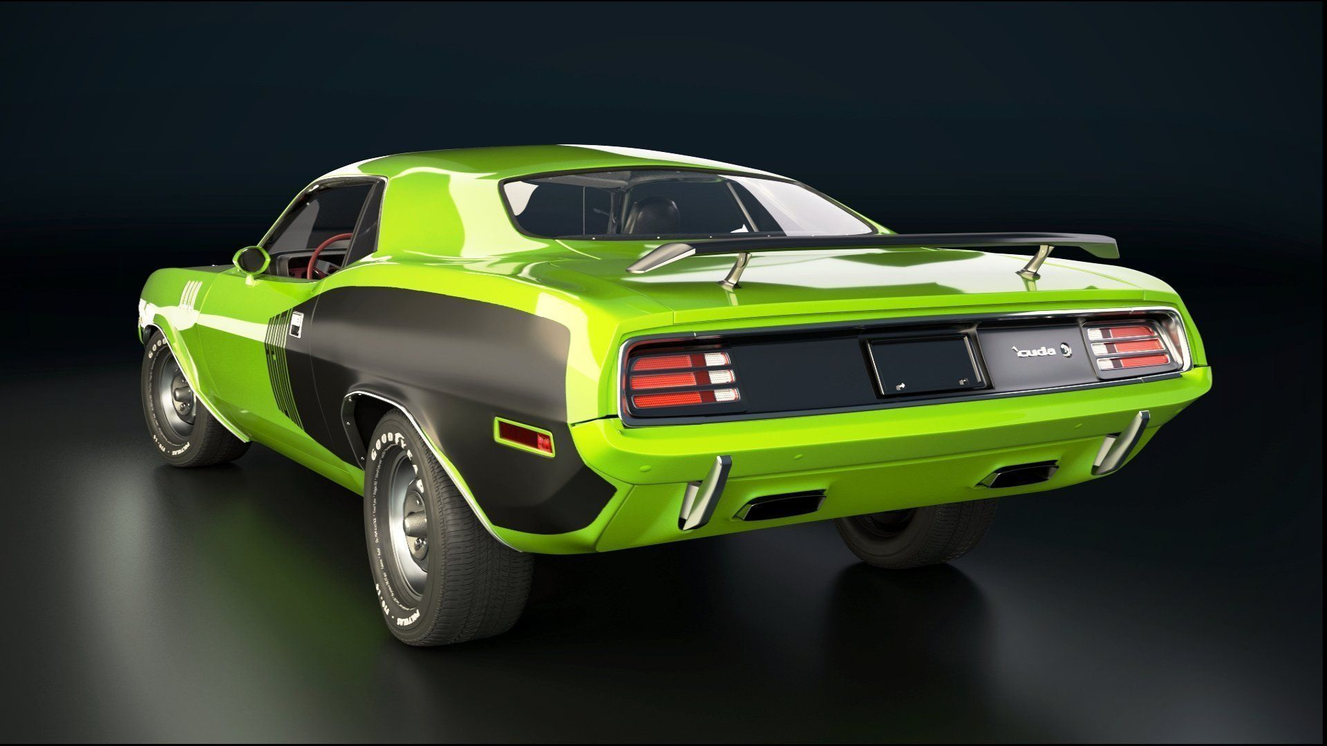 Plymouth Barracuda 3d Model Blend Cgtrader Com