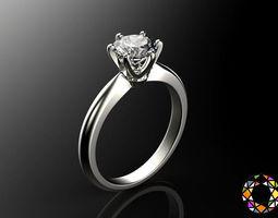 engagement ring set 3d print model