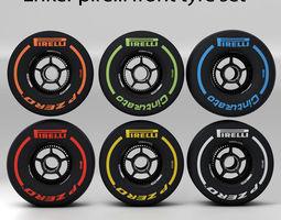 enkei front tyre set 3D Model