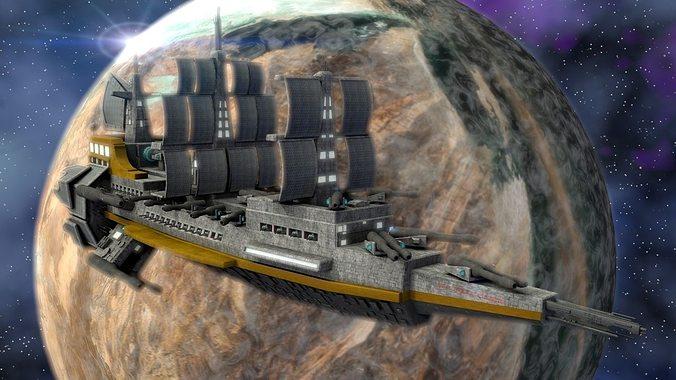 space heavy cruiser 3d model lwo lw lws 1