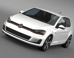 cars VW Golf GTI 3door 2015