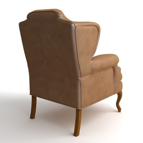 3D Leather Wing Chair 2 CGTrader
