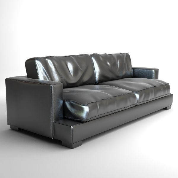Classic Leather Sofa Photorealistic 3D | CGTrader