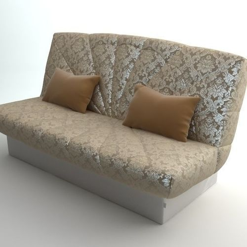 Sofa with 2 pillows3D model