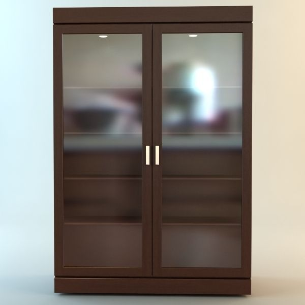 bookshelf cabinet vitrine 3d model max obj 3ds mtl 1 ... & 3D Bookshelf Cabinet Vitrine | CGTrader