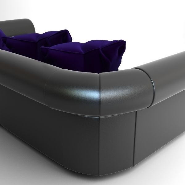 Black Couch With Throw Pillows : Black Sofa with Pillows 3D Model .max .obj .3ds - CGTrader.com