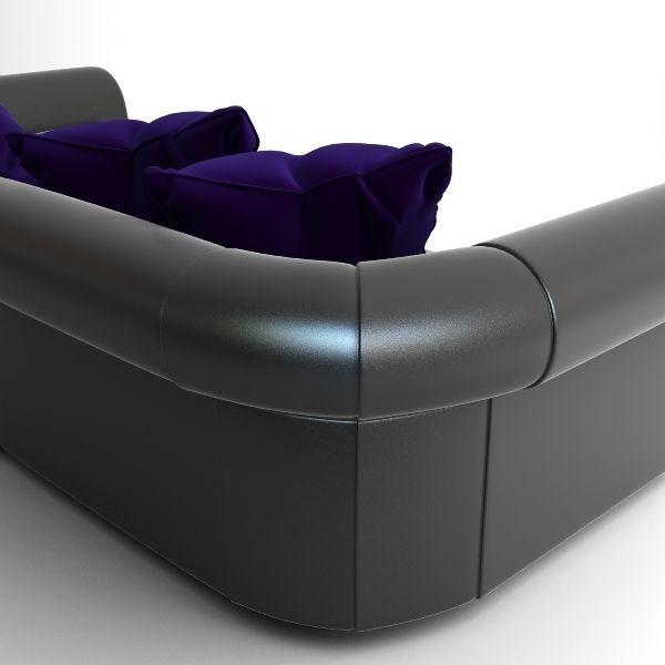 Black Throw Pillows For Sofa : Black Sofa with Pillows 3D Model .max .obj .3ds - CGTrader.com