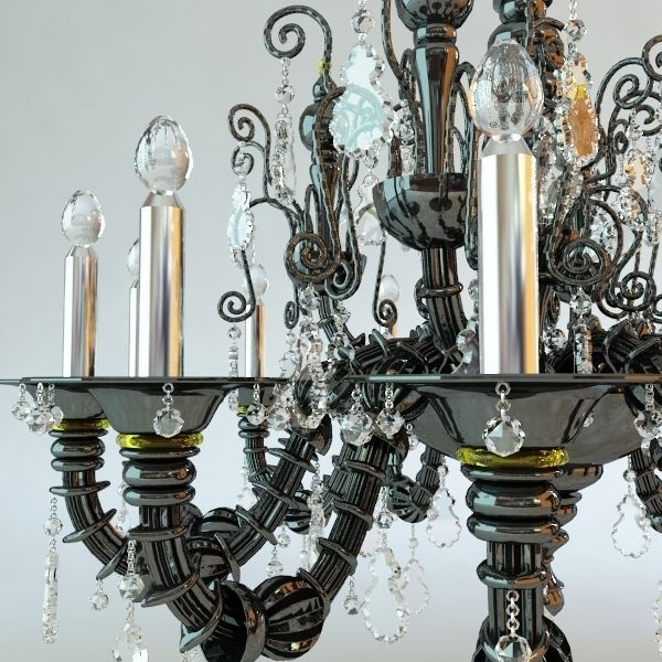 ... antique chandelier 3d model max obj 3ds fbx mtl 3 ... - 3D Model Antique Chandelier CGTrader