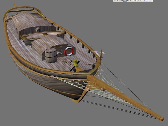 Sloop Spray of Joshua Slocum 3D Model .max .obj .blend ...