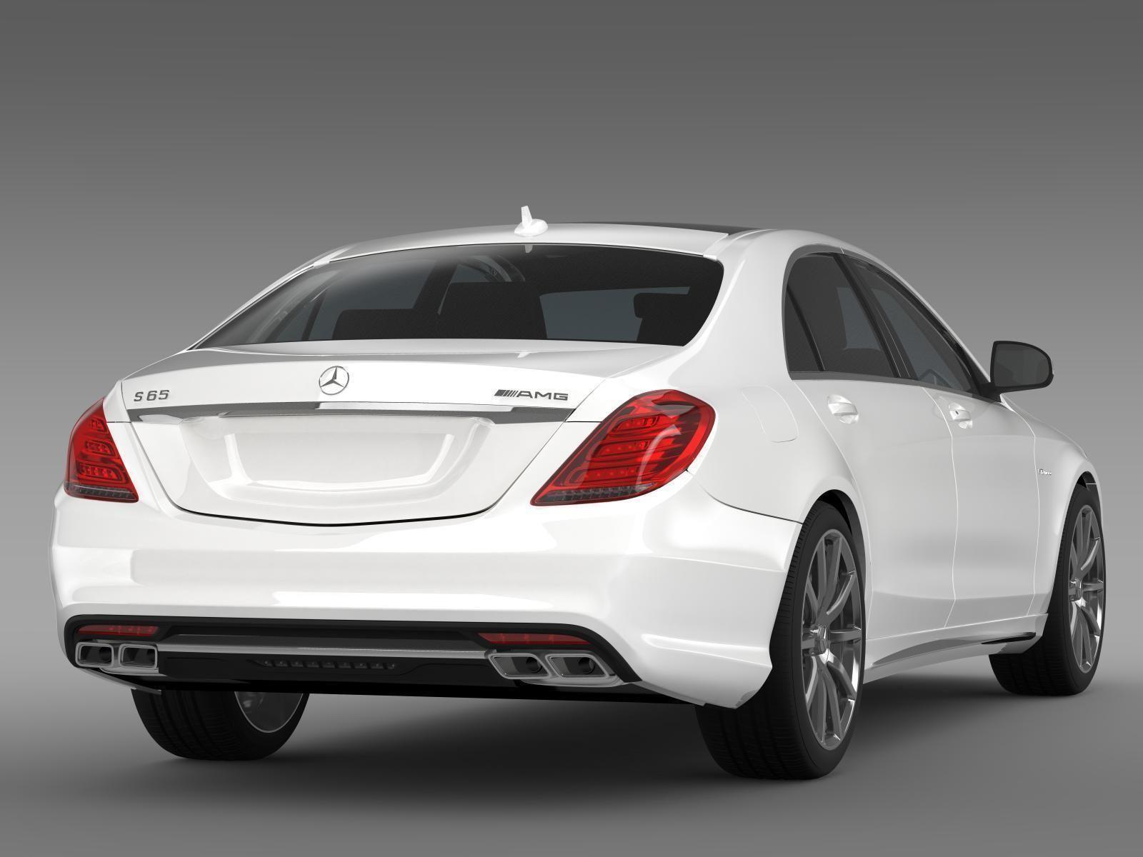 Mercedes benz s 65 amg w222 2014 3d model max obj 3ds for Mercedes benz 2014 models