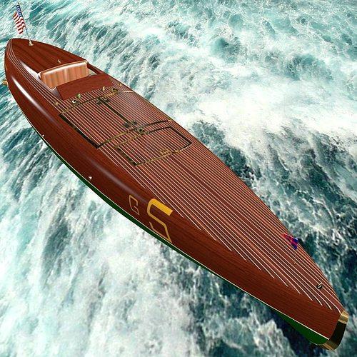 baby bootlegger g5 hull only 3d model max obj mtl blend wrl wrz x3d 1