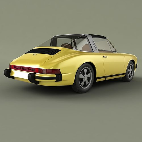 Porsche 911 Targa: Porsche 911 Targa 1974 3D Model MAX OBJ 3DS