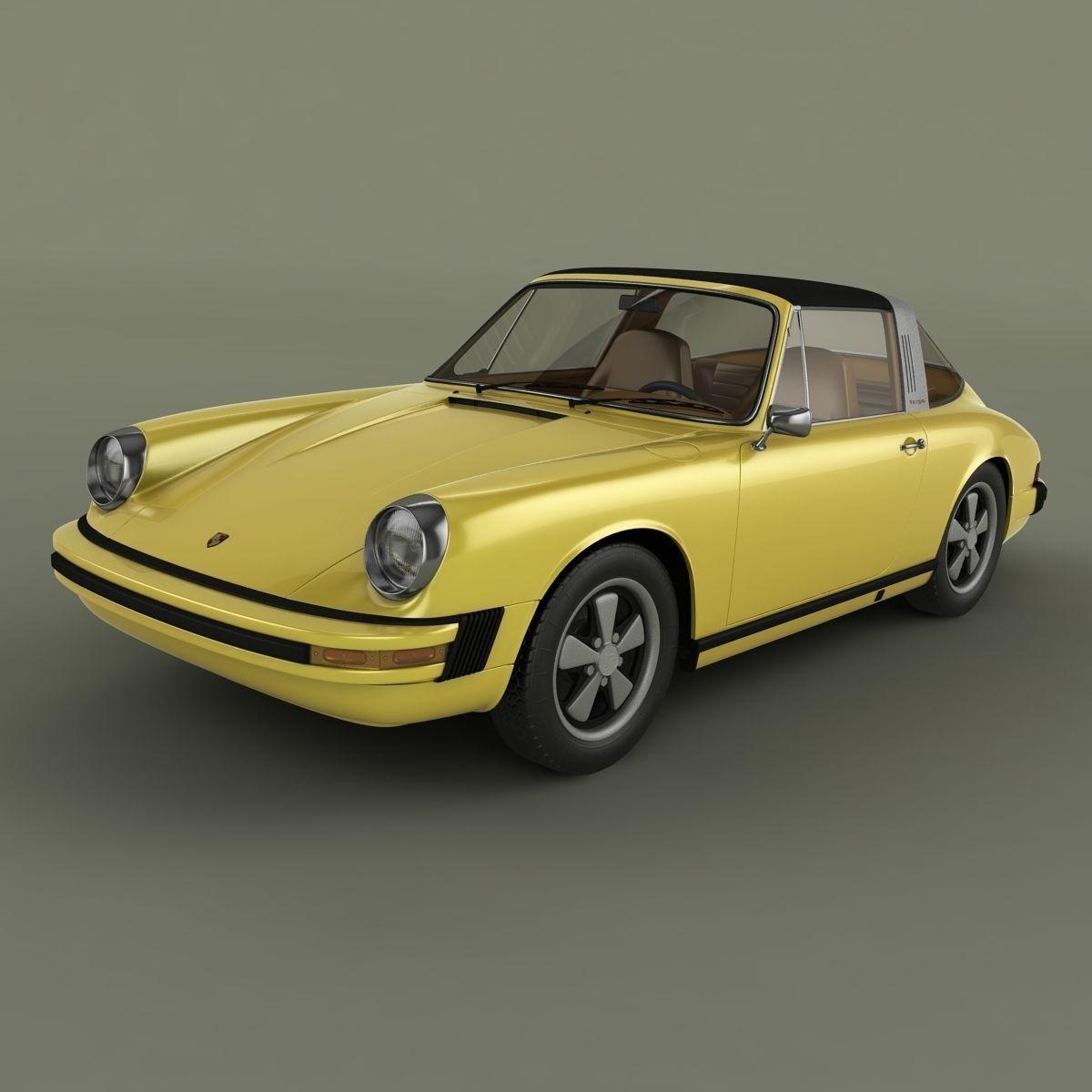 porsche 911 targa 1974 3d model max obj 3ds. Black Bedroom Furniture Sets. Home Design Ideas