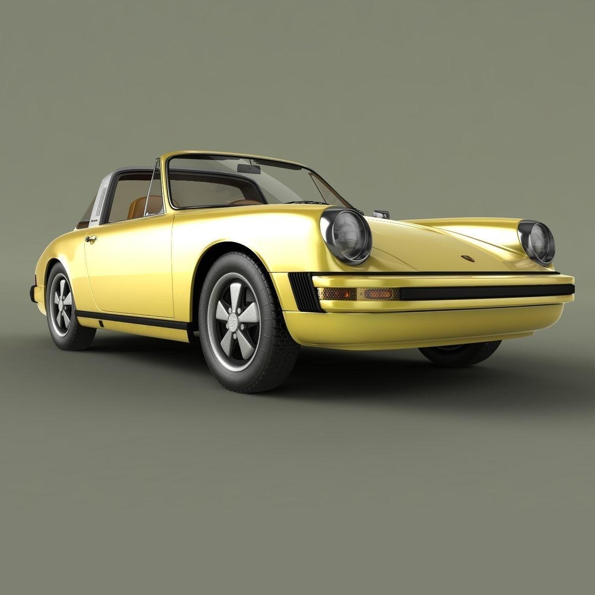 Porsche 911 Targa 1974 3d Model Max Obj 3ds Cgtrader Com