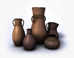 Ancient vases Vol4 3D Model