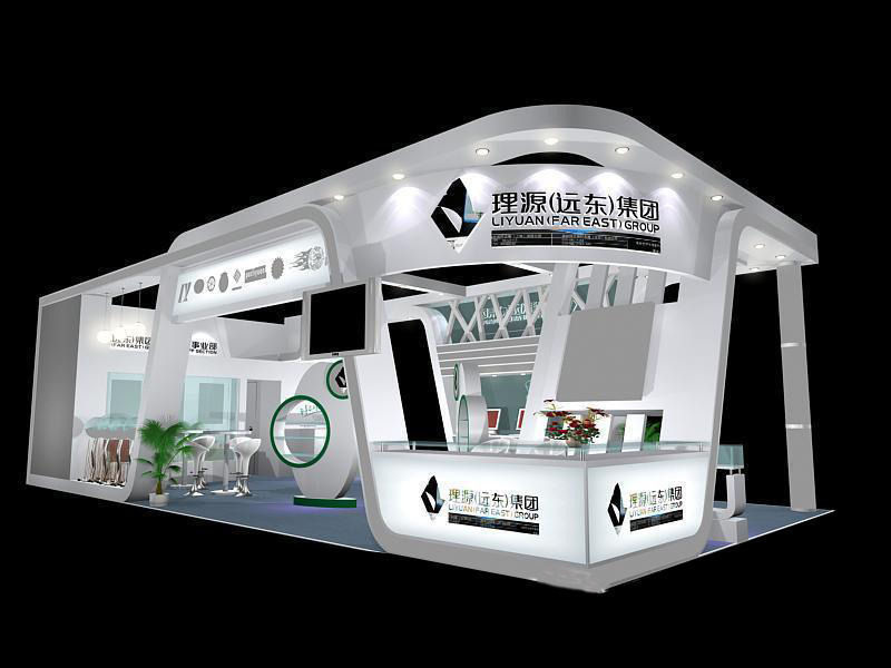 Exhibition Stall Rendering : Exhibition area dmax  d model max