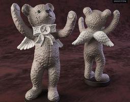 3D model Bear angel-2