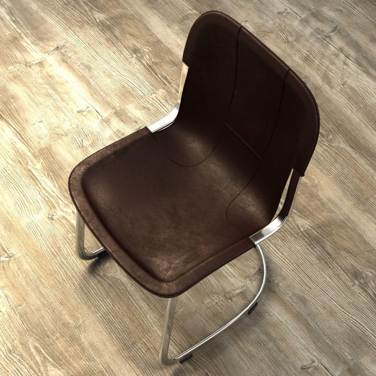 Restoration Hardware Rizzo Leather Side Chair Model Max Obj Mtl S Fbx 6