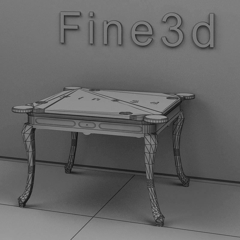Antique table 09om 017 3d model obj 3ds for Table 430 52