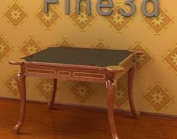 antique table 09om 017 3d model
