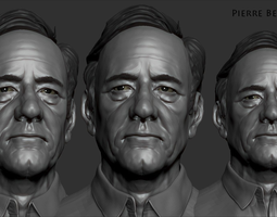 kevin spacey zbrush sculpt 3d