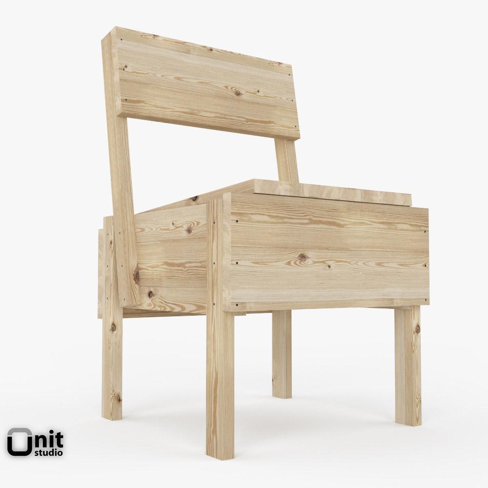 3d artek sedia 1 chair cgtrader