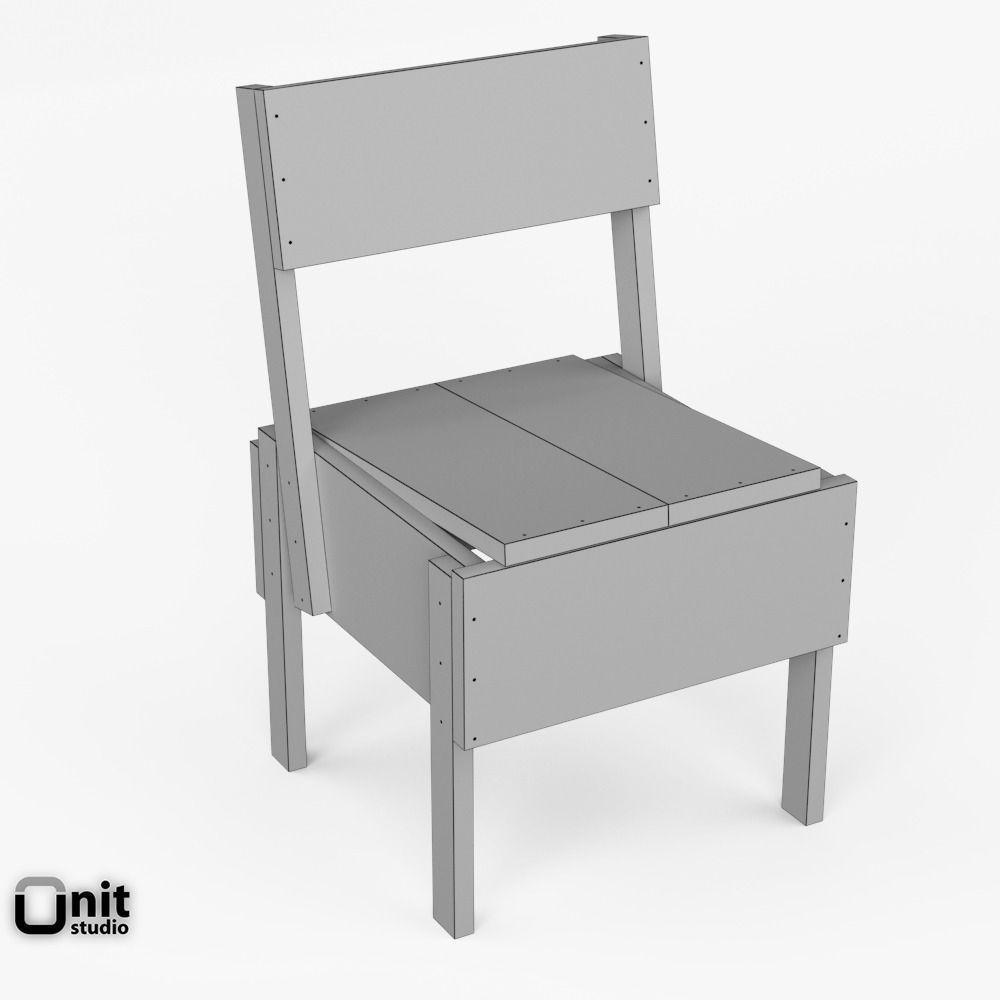 artek sedia 1 chair 3d model max obj 3ds fbx dwg