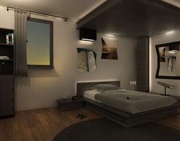 Mr Bedroom 05 3D Model