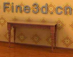 Table Antique Traditional Style 09om 032 3D Model