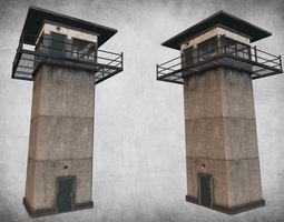 prison tower 3d model VR / AR ready