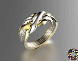 3d printable model puzzle ring
