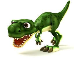Cartoon of dinosaurs 3D asset