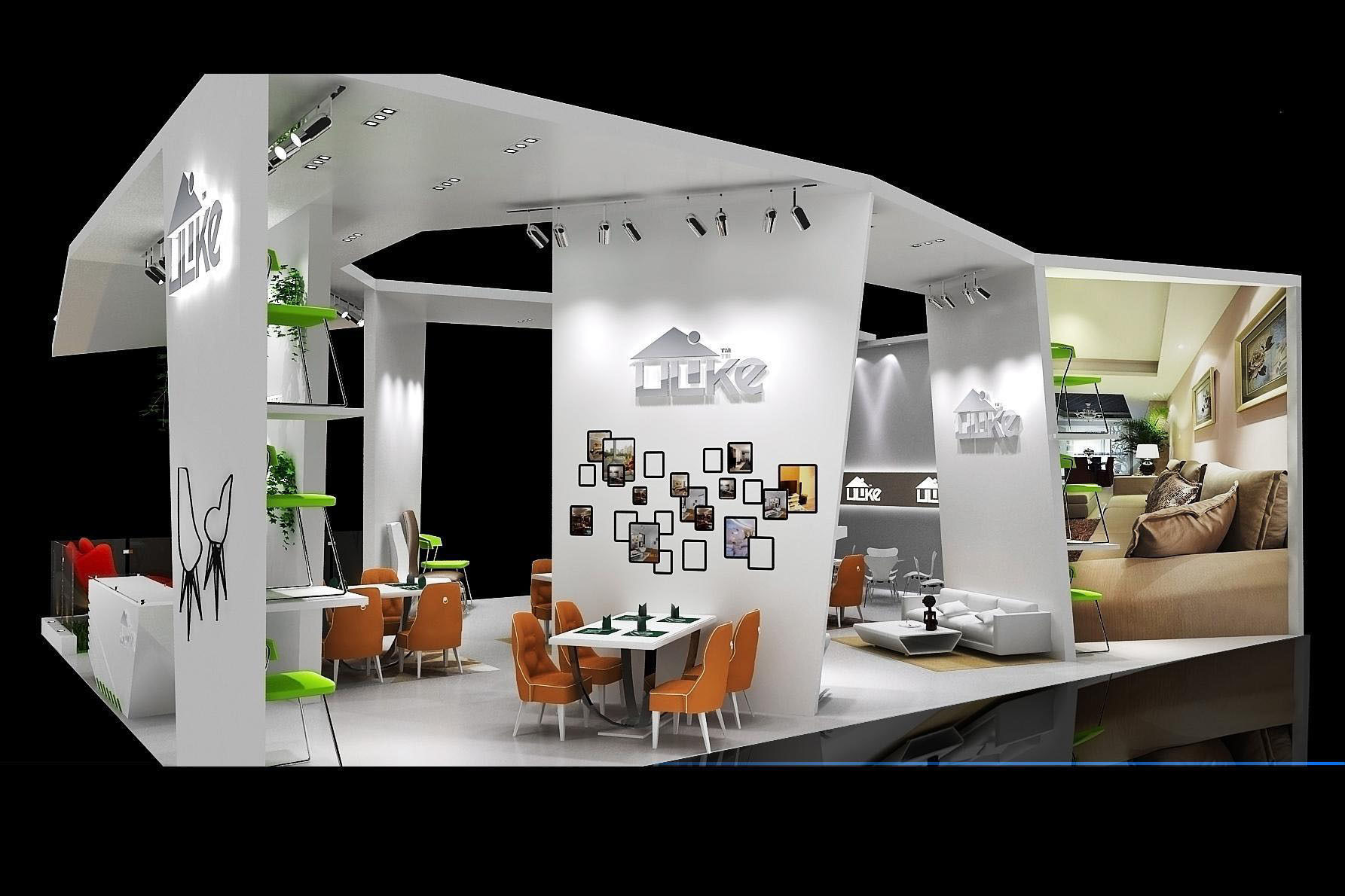 Exhibition area 10x13 3dmax2009 1841 3d model max for 10x13 kitchen layout