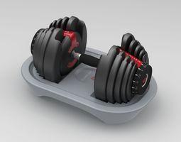 3D model Bowflex Dumbbells