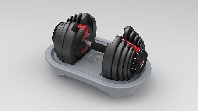 bowflex dumbbells 3d model stl sldprt sldasm slddrw ige igs iges 1