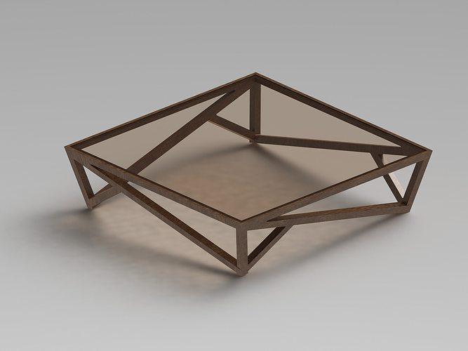 modern glass coffee table 2 3d model sldprt sldasm slddrw ige igs iges 1
