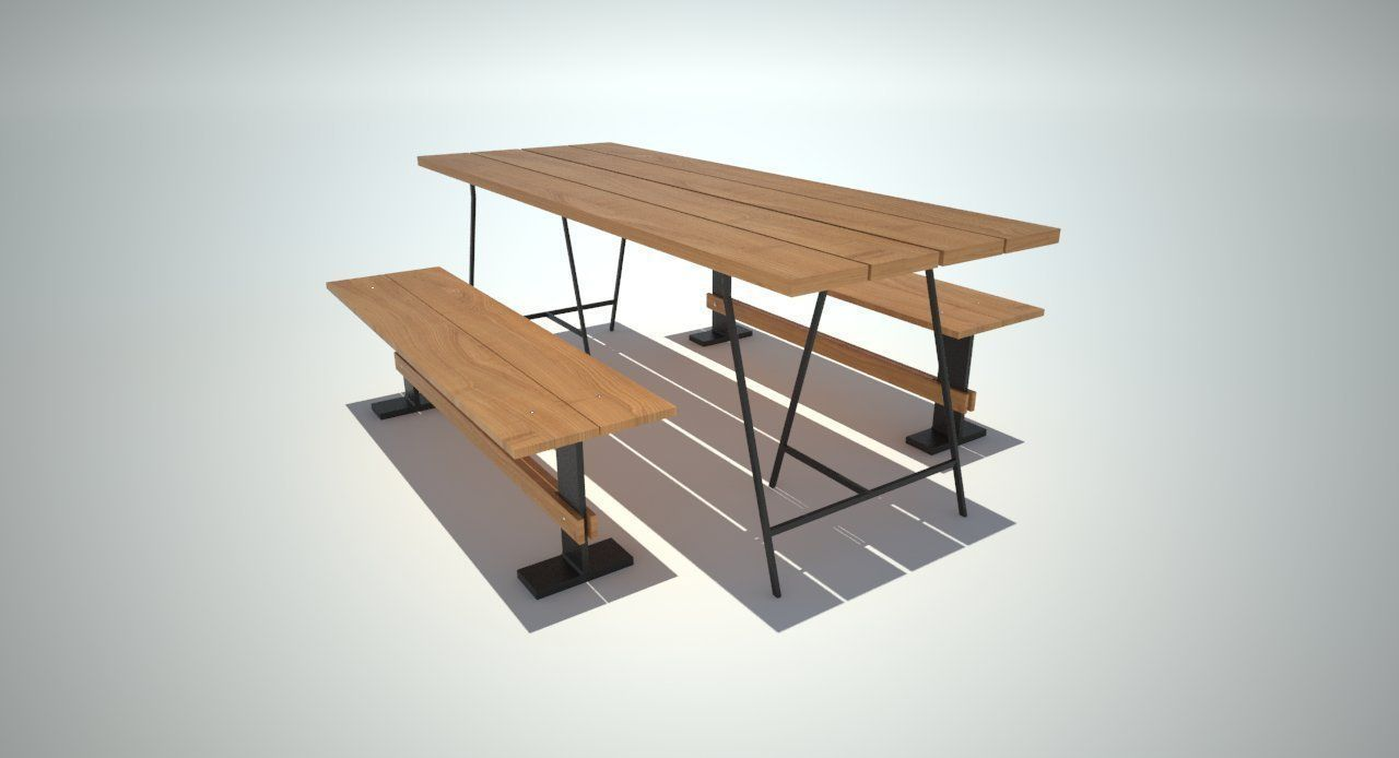 Dining table free 3d model obj 3ds 3dm ige igs iges for Dining table latest model