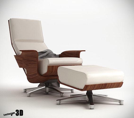 chaise cuatro lounge chair 3d model max pdf 1