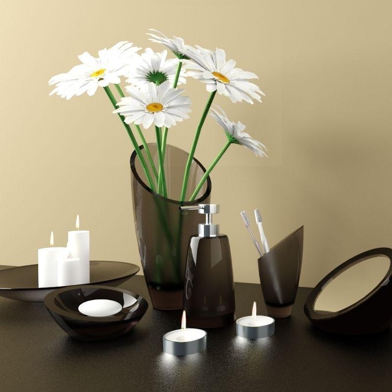Accessories For Bathroom Regia Model Rigged Max Fbx