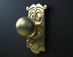 3D Alice In Wonderland Doorknob | CGTrader