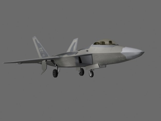 F-22 Raptor US Stealth Fighter Plane Game Ready 3D Model .max .obj .fbx