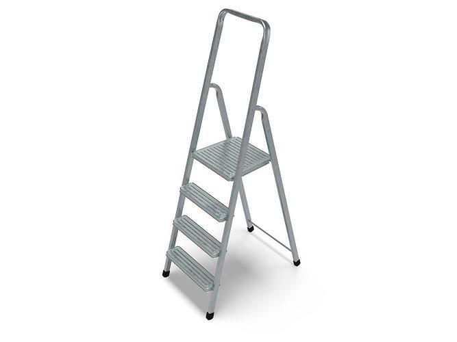 steel ladder 3d model obj mtl 3ds blend 1