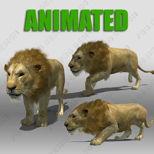 Lion Animated3D model