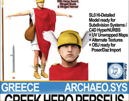 Ancient Greek Hero Perseus 3D Model