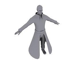 A man in a raincoat 3D