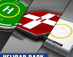 helipad helicopter pad pack 3d model max obj 3ds fbx